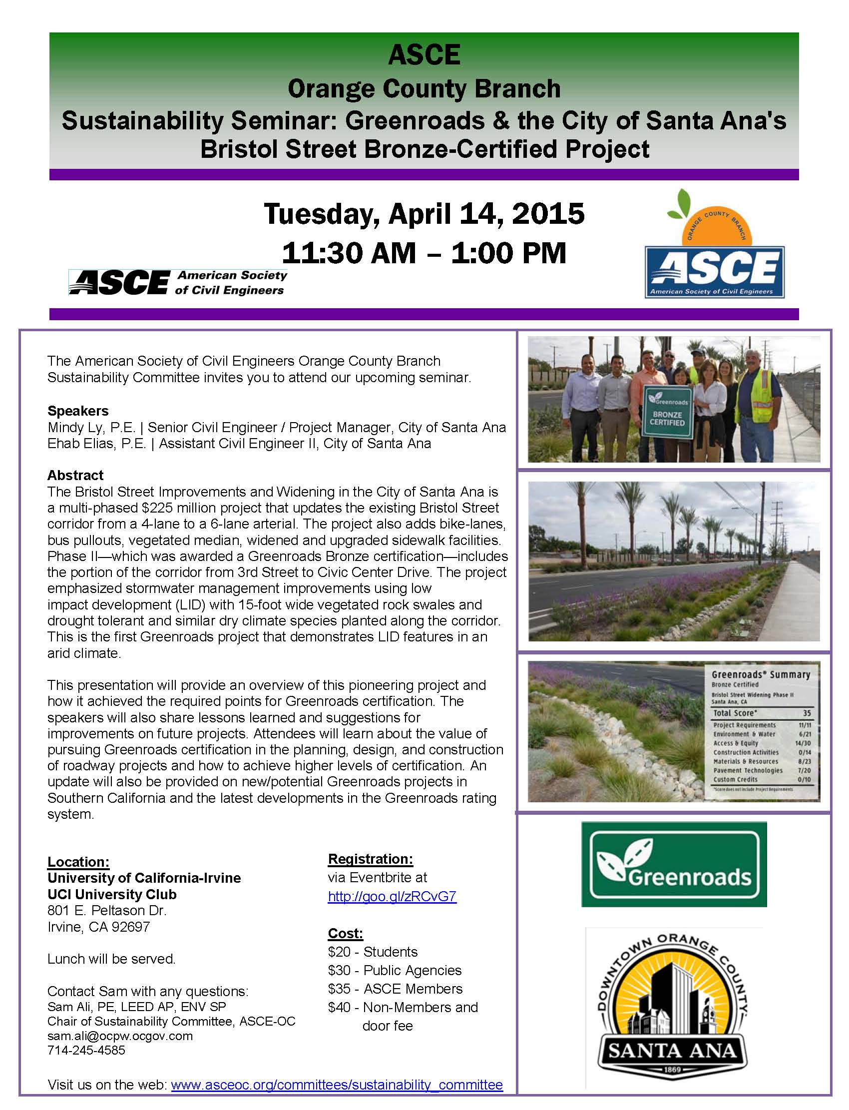 sustainability event april 2015 - asce oc