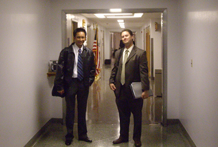 Robert and Darren in the Halls of the Capitol.