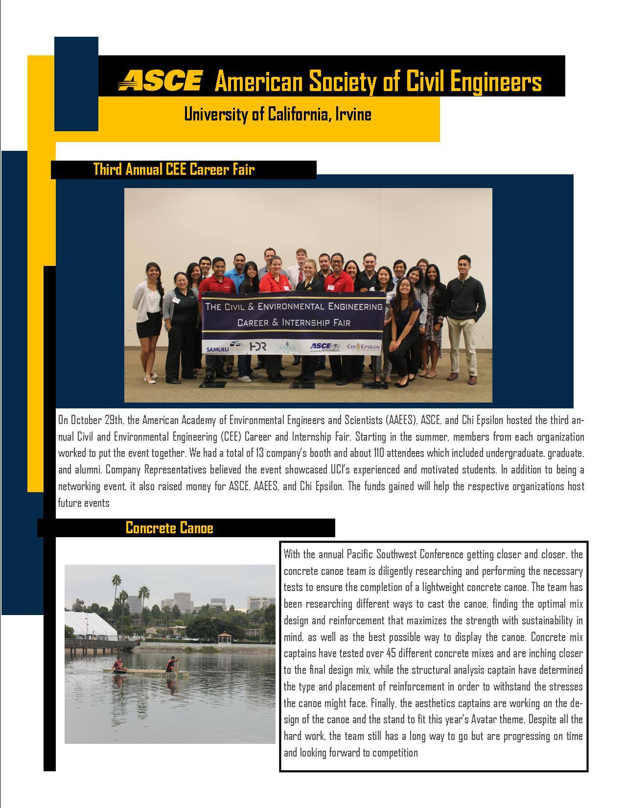 uci fall  newsletter november  asce oc american society  civil engineers orange