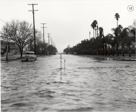 January 1952 Carbon Creek Flowing Westerly along La Palma Ave Undergrounding to be Funded by 1956 Bond